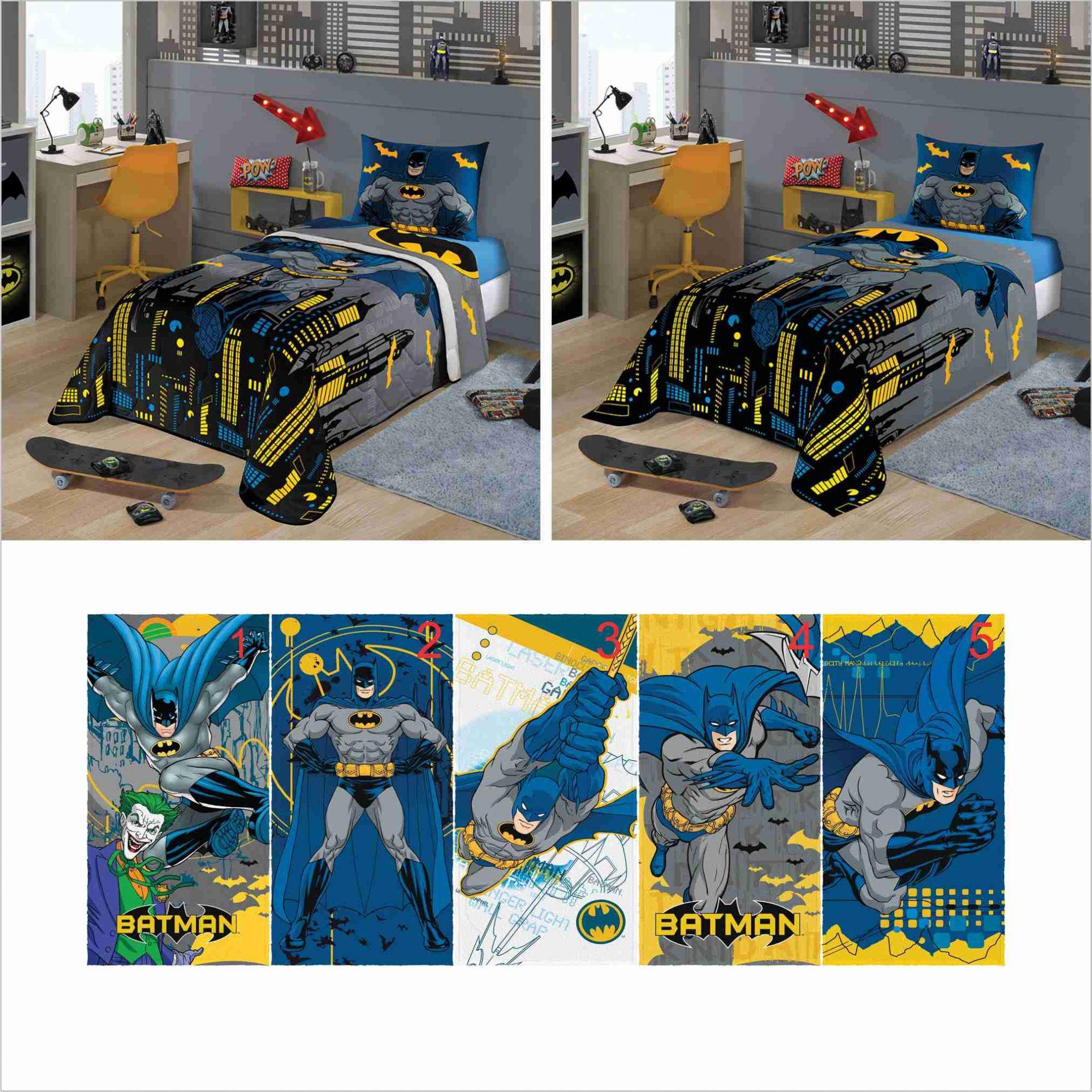 711fb184ea Edredom+ Jogo Cama Lençol 2pçs+ Toalha Batman Lepper - PEQUENININHOS.COM