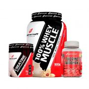 Combo 100% Whey Muscle 900g + Thermo Abdomem 120tabs + Creatina 20days 70g - Body Action