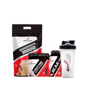 Combo Hard Mass 3Kg + Creatina 70g + BCAA 100 Cápsulas + Coqueteleira - Body Action