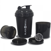 Coqueteleira Black Skull - Blender 3 estágios