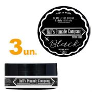 Kit com 3 - Pomada Hall's Company BLACK 120G - Kelma