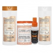 Kit Completo Cabelos Therapya - Queratina com Óleo de Cenoura - Kelma 04 itens