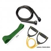 Kit Fitness Prottector Médio - corda + extensor + rubber band