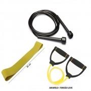 Kit Fitness Prottector Leve,  corda slim, extensor leve, rubber band leve