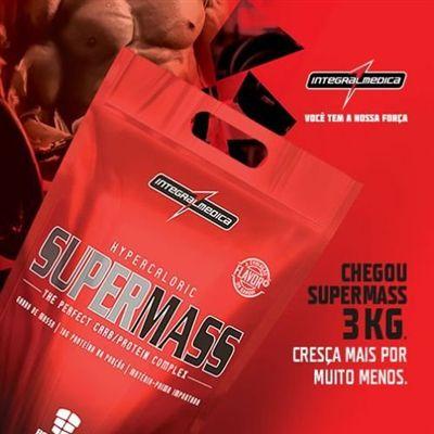 3x Hipercalóricos - Supermass 17500 (3kg) + Coqueteleira - IntegralMédica - Baunilha