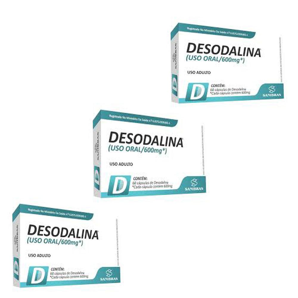Combo 3x Desodalina 600mg 60caps - Sanibras