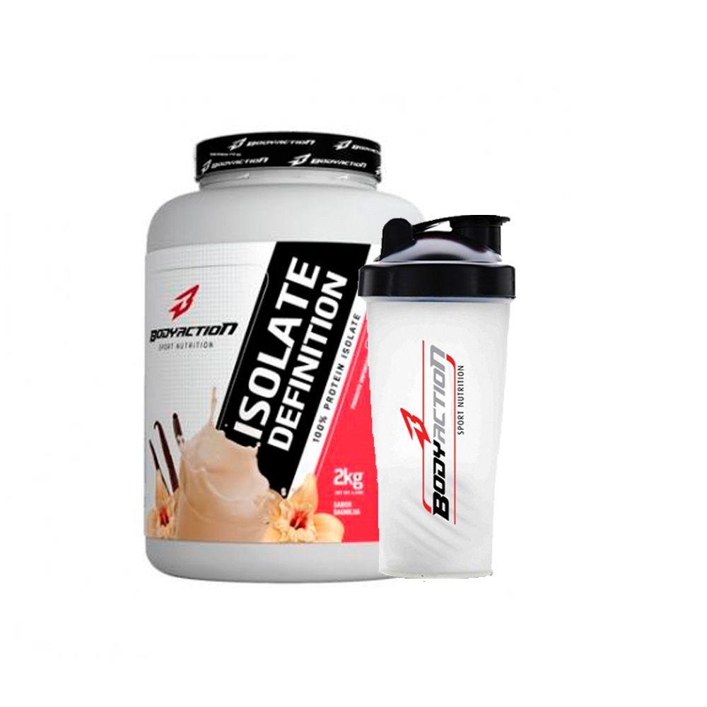 Combo Isolate Definition 2kg + Coqueteleira - Body Action - Baunilha