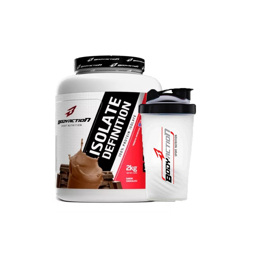 Combo Isolate Definition 2kg + Coqueteleira - Body Action - Chocolate