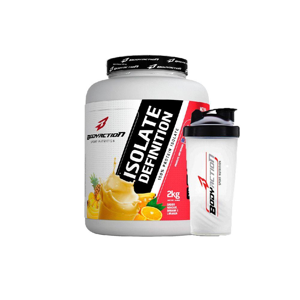 Combo Isolate Definition 2kg + Coqueteleira - Body Action - Frutas
