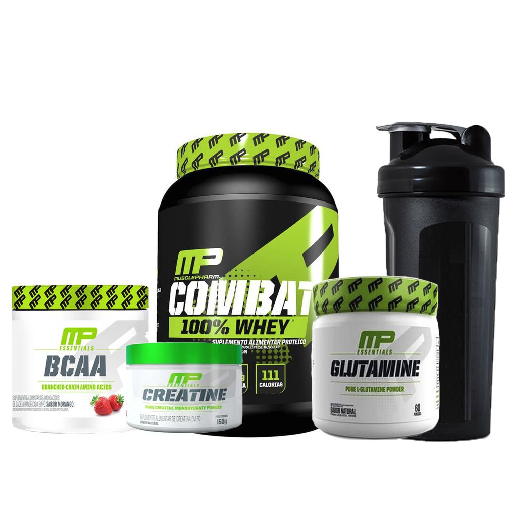 Combo Whey + creatine + BCAA + Glutamine - Muscle Pharm
