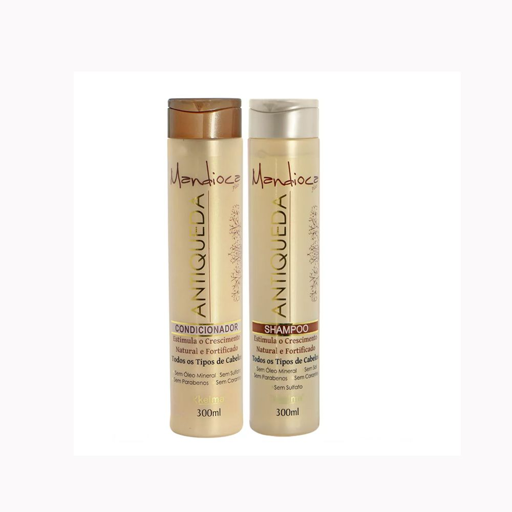 Kit Antiqueda Mandioca - Shampoo, Condicionador - Kelma