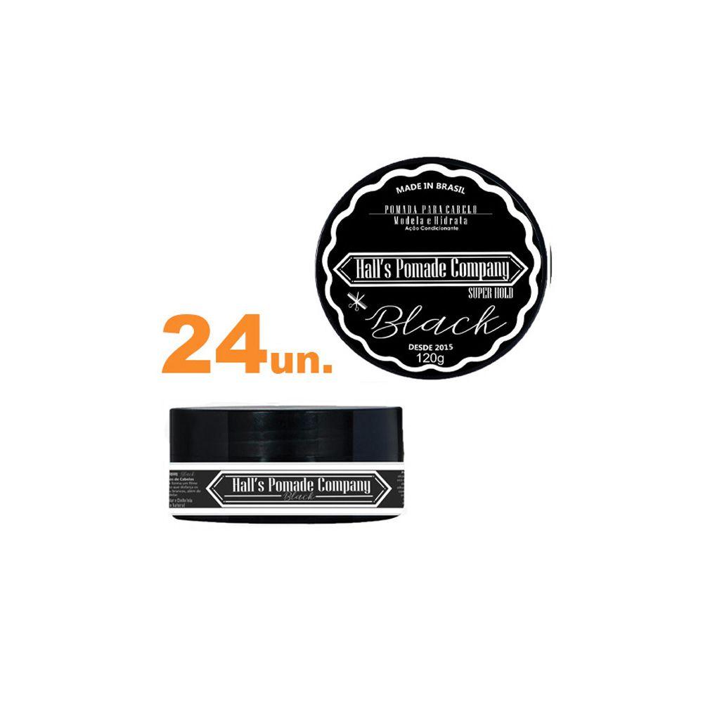 Kit com 24 - Pomada Hall's Company BLACK 120G - Kelma