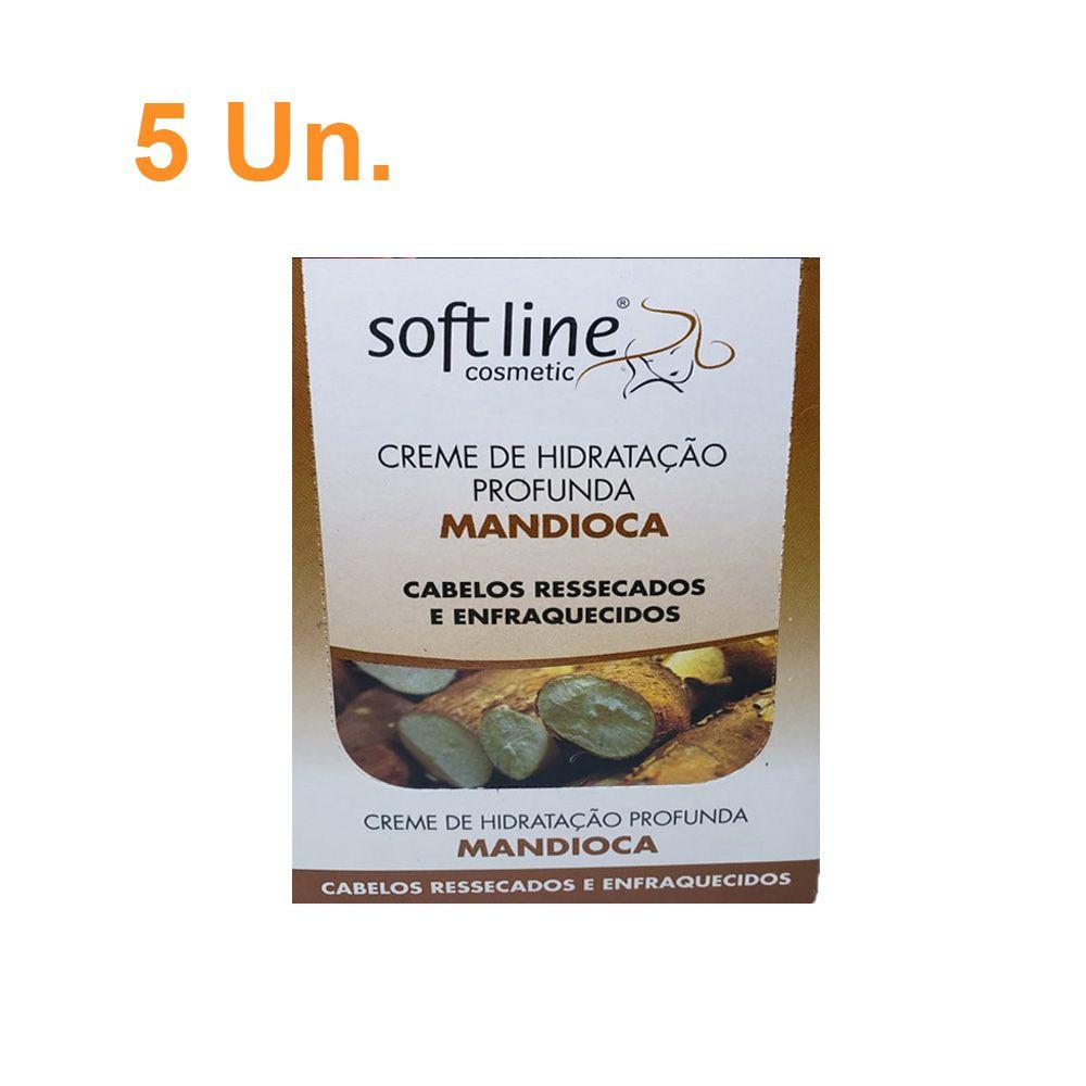 Kit Com 5 Sachês de Creme de Hidratação Profunda Mandioca - Soft Line