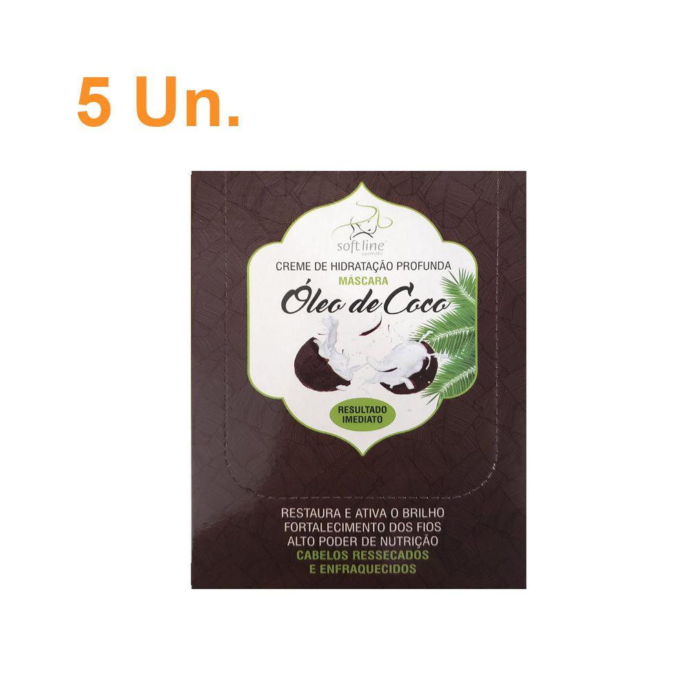 Kit Com 5 Sachês de Creme de Hidratação profunda Òleo de Coco - Soft Line