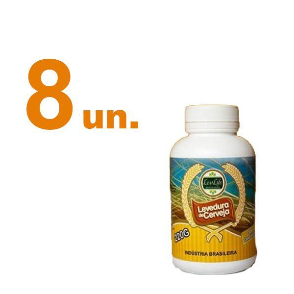 Kit com 8 - Levedura de Cerveja 220g - LevLife - 400 Comprimidos