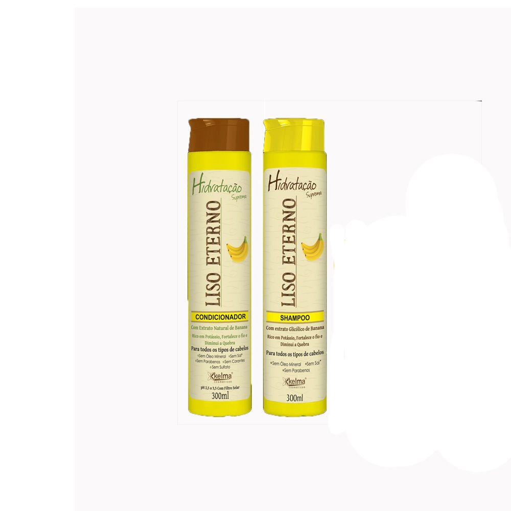 Kit Shampoo + Condicionador - Banana Liso Eterno - Kelma