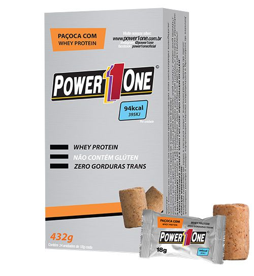 Paçoca Whey Protein (24 unidades de 18g) - Power One