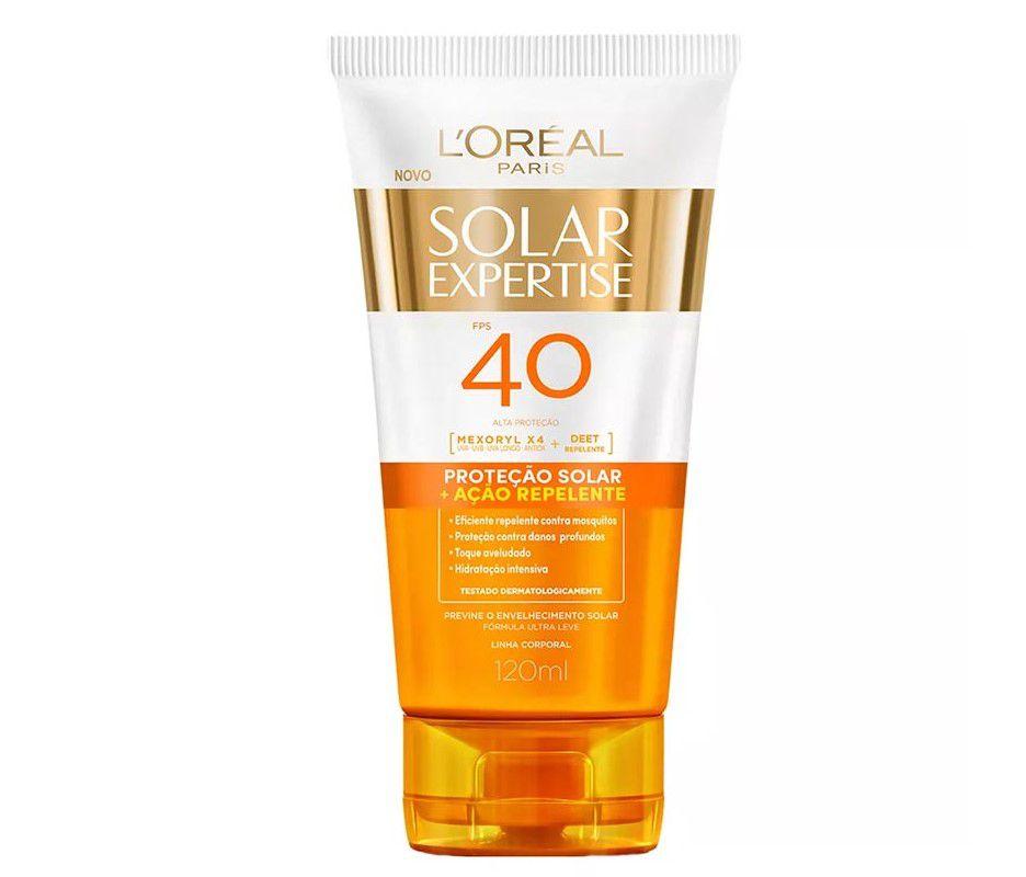 Protetor Repelente Solar Expertise L'oréal (120 ml) FPS 40