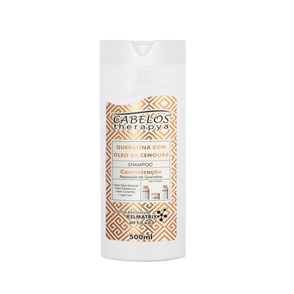 Shampoo Therapya Queratina c/ Óleo de Cenoura - Kelma