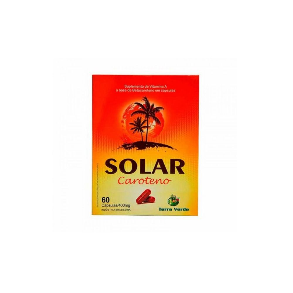 Solar Beta Caroteno 60caps - Terra Verde