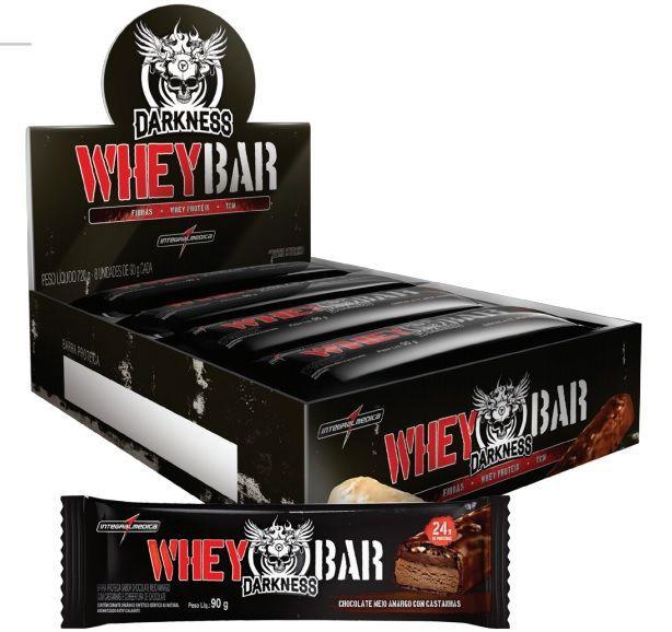 Whey Dark Bar Darkness (caixa c/ 8) - Chocolate amargo - IntegralMédica