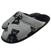 Pantufa Flexível em Plush Urso com Pelúcia