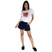 Pijama Feminino em Malha 100% Algodão e Atoalhado