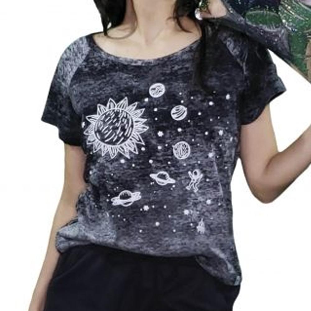 Camisa Feminina em Malha Laserwash Universo