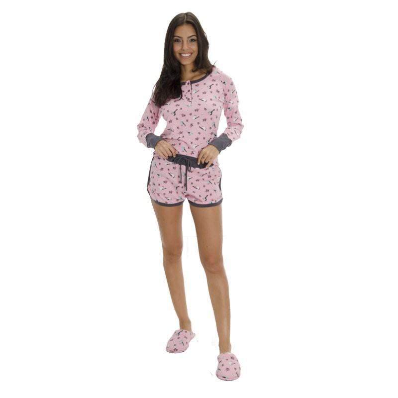 Kit Pijama e pantufa