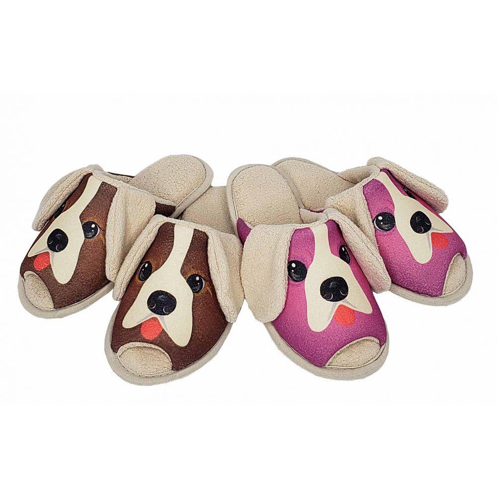 Pantufa Infantil Puff Flex Cachorro Malha