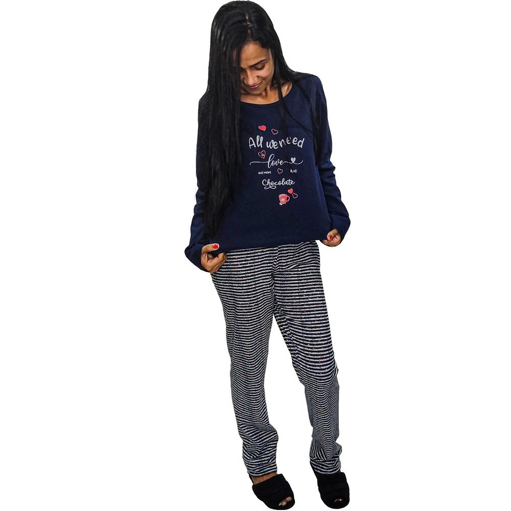 Pijama em Cotton Light Poá
