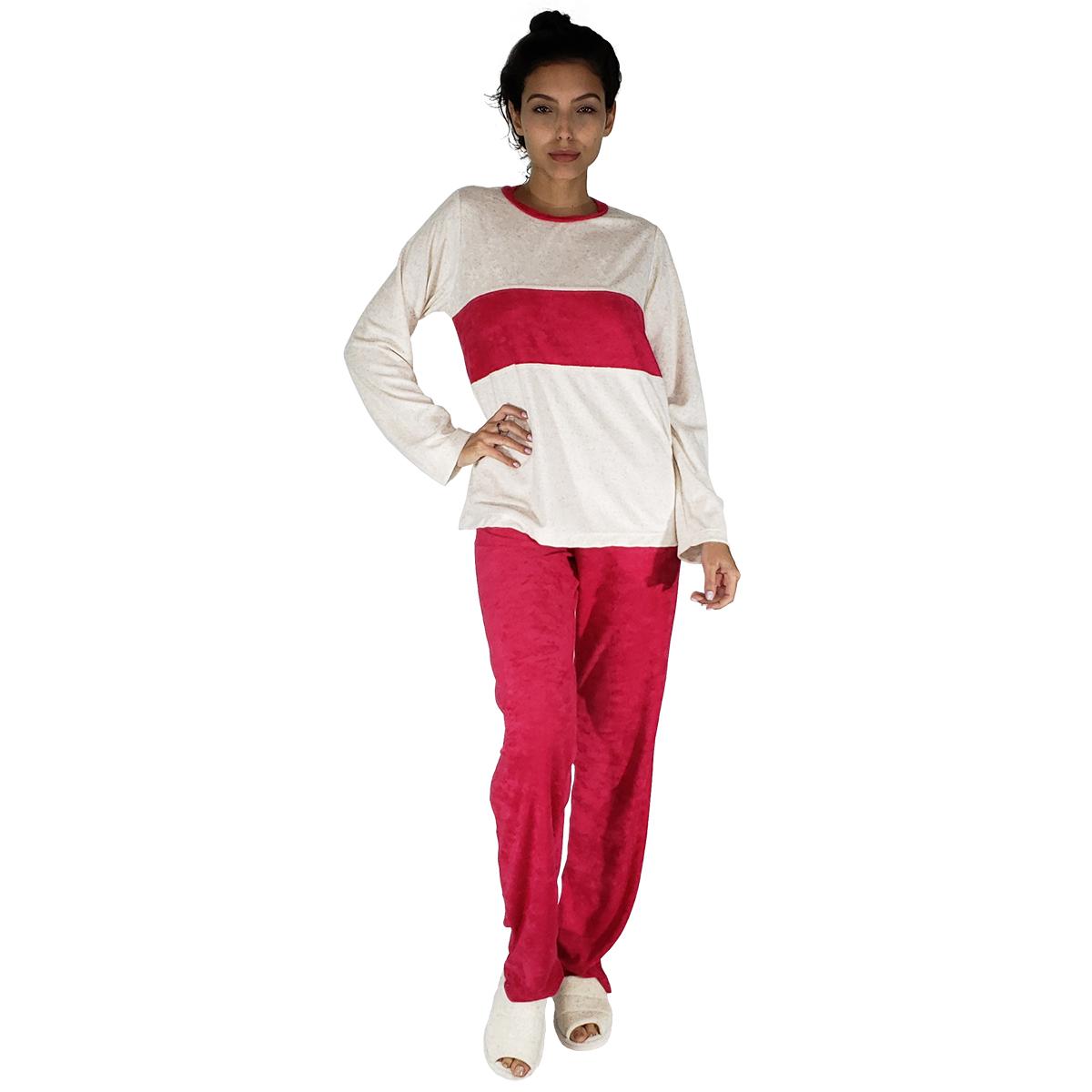 Pijama Feminino Em Plush Com Faixa
