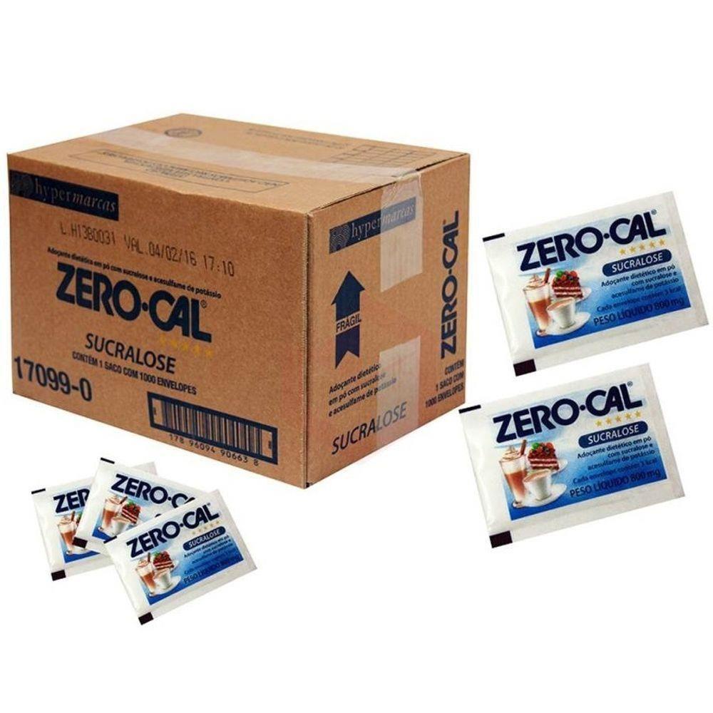 Adoçante Em Pó Sucralose Zero Cal 1000 Envelopes