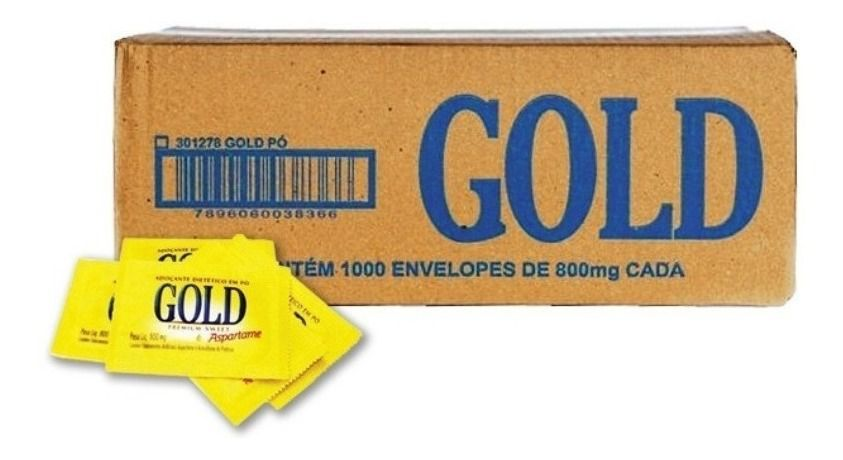 Adoçante gold Aspartame Cx Com 1000 Saches