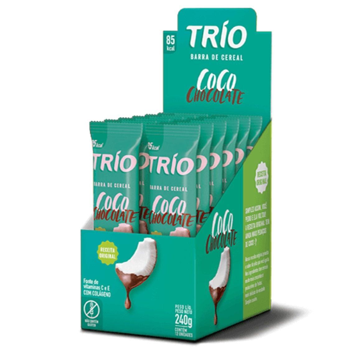 BARRA CEREAL TRIO COCO/CHOC  12X20G