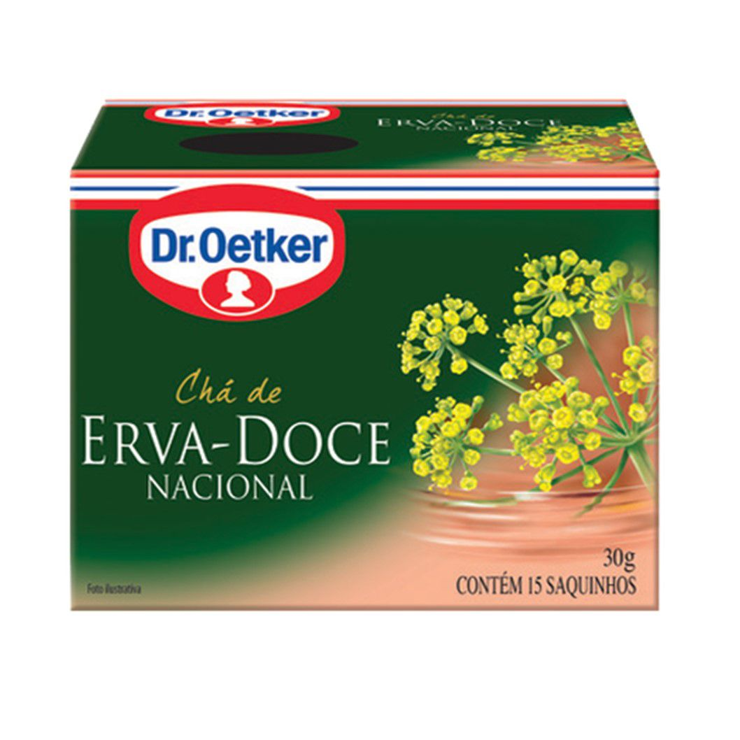 CHA DR. OETKER ERVA DOCE C/15SQ