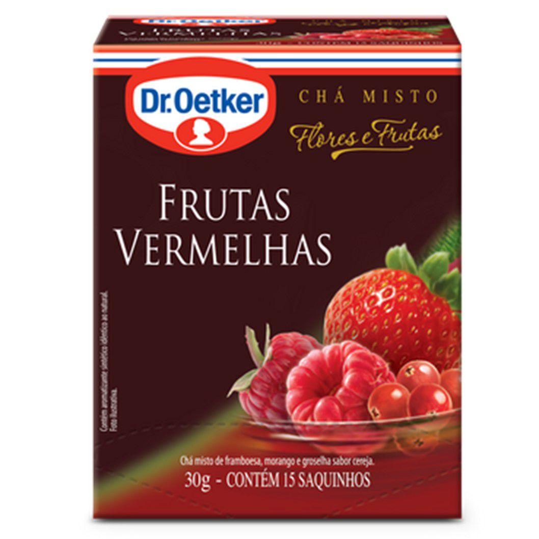 CHA DR. OETKER FF FRUTAS VERMELHAS C/15SQ