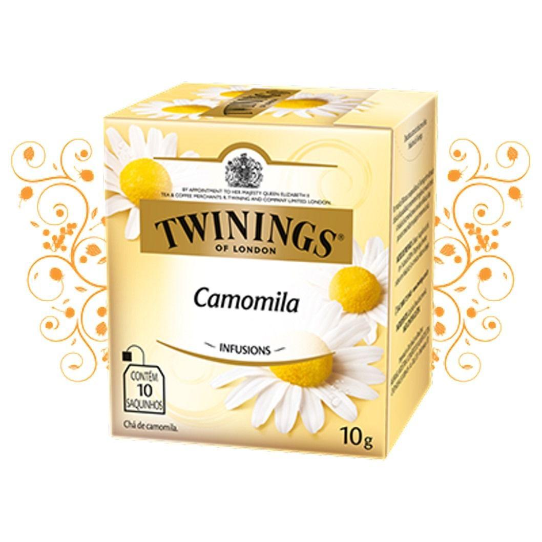 CHA TWININGS CAMOMILA 10SQ
