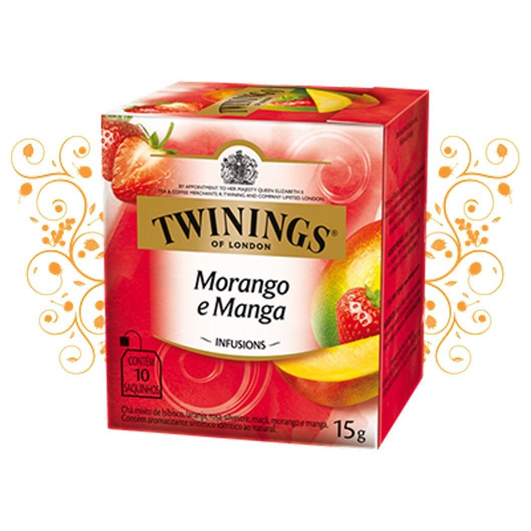 CHA TWININGS MORANGO/MANGA 10SQ