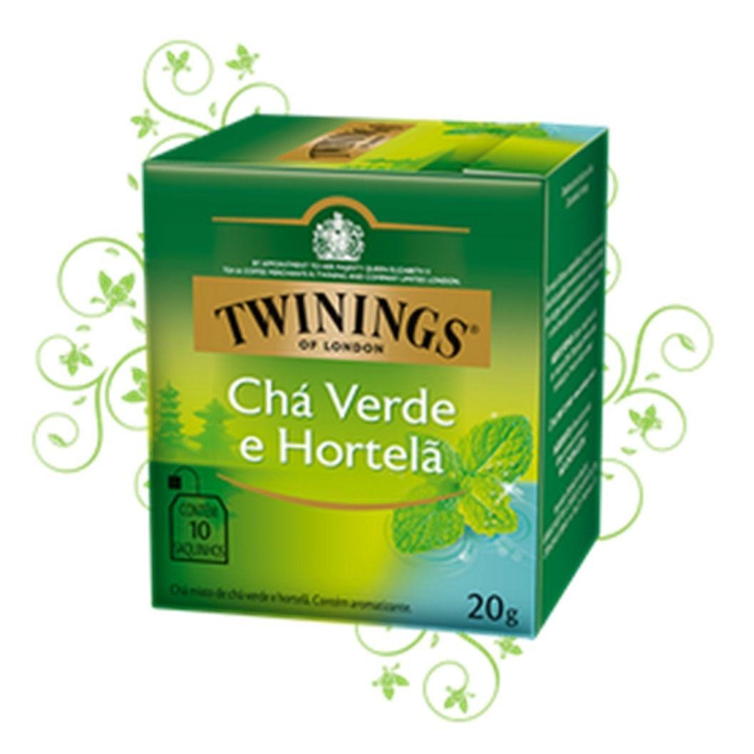 CHA TWININGS VERDE HORTELA  10SQ