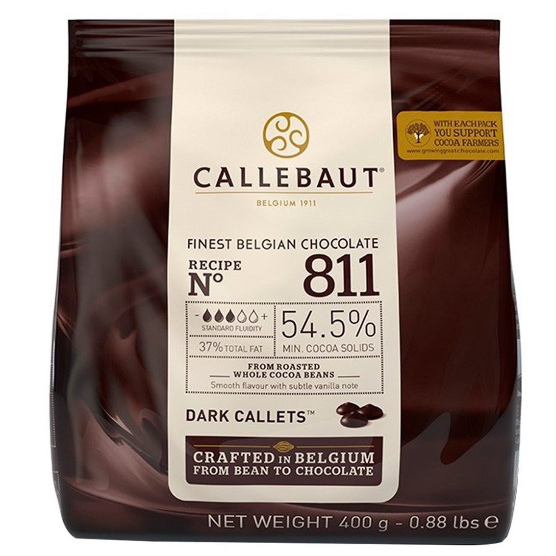 CHOCOLATE CALLEBAUT AMARGO 811 GOTAS 54,5% 400G