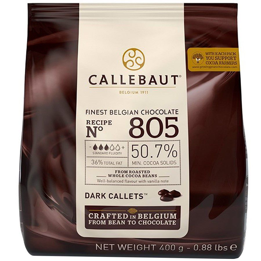 Cobertura Callebaut Amargo  Gotas 50,7% 400g