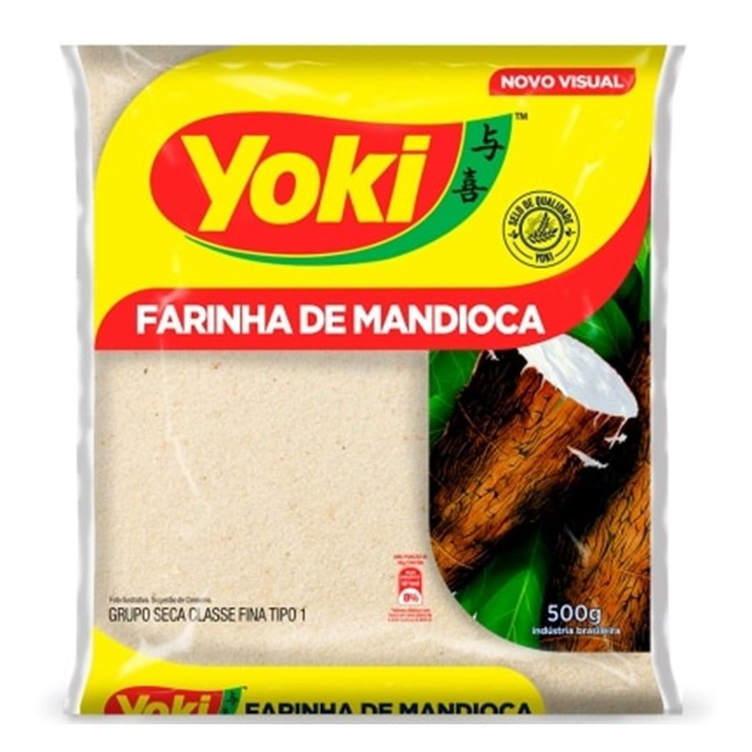 FARINHA DE MANDIOCA FINA YOKI  500G