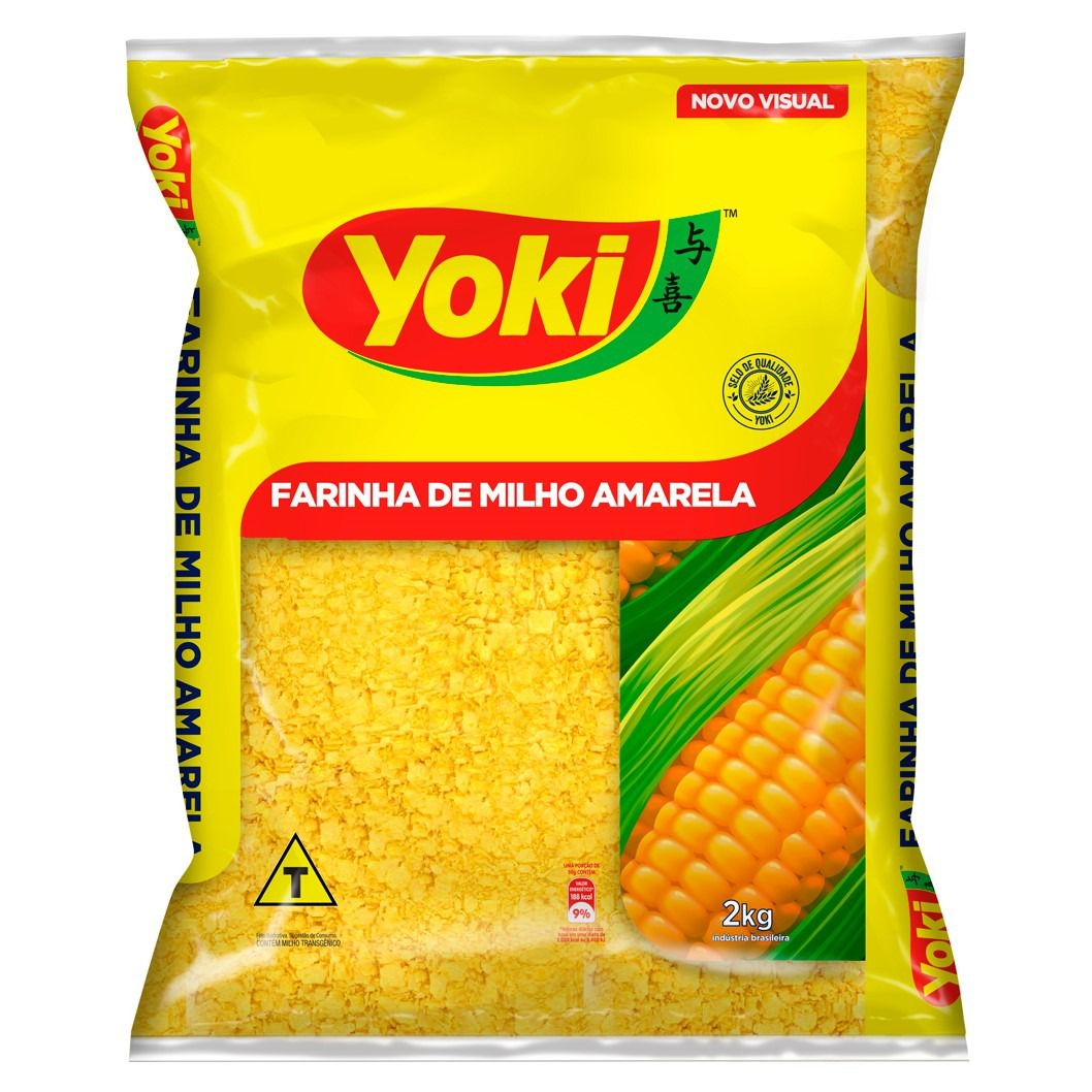 FARINHA DE MILHO AMARELA YOKI   2KG