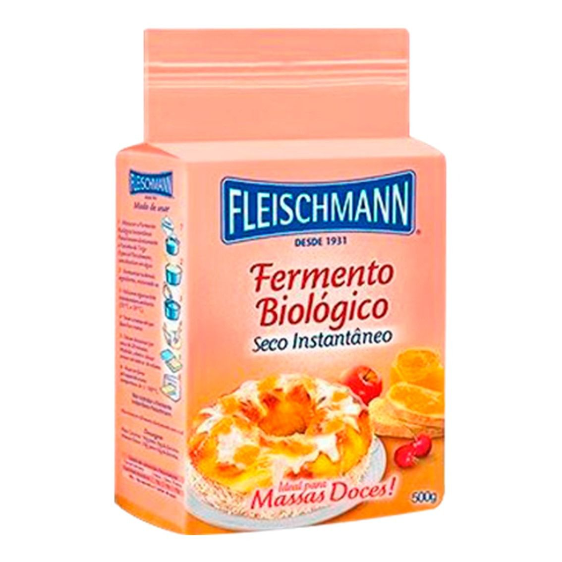 FERMENTO BIOLOGICO MASSA DOCE EM PO FLEISCHMANN  500G