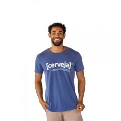 Camiseta Cerveja Algodão Azul Tempt