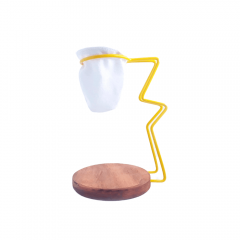 Coador de Café em Pano Reutilizável Base e Suporte Amarelo