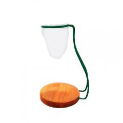 Coador de Café em Pano Reutilizável Base e Suporte Verde