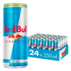 Kit 24 Latas Energético Sugarfree Sem Açúcar 250ml - Red Bull