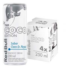 Kit 4 Latas Energético Coco Edition Coco e Açaí 250ml - Red Bull